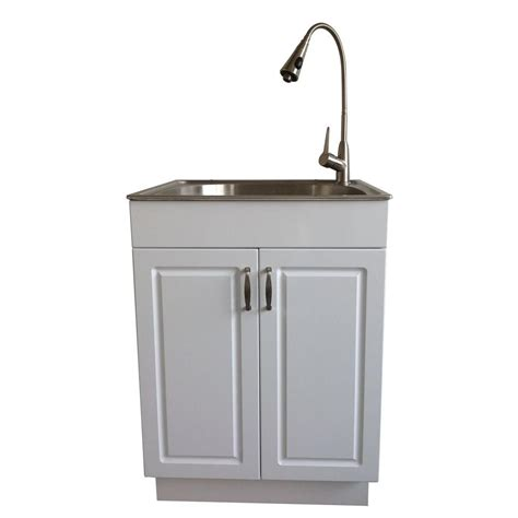 all in one utility sink glacier bay all in one 24 2 in x 21 35 in x 33 85 in