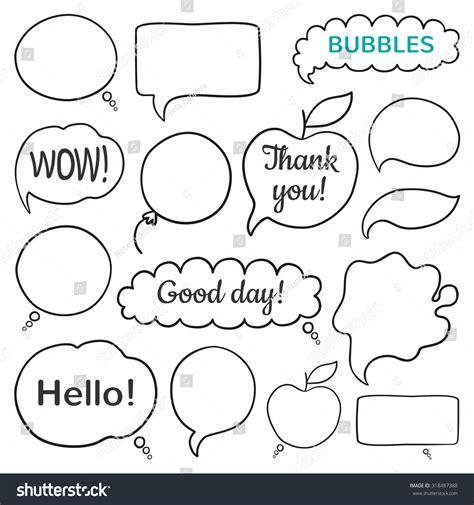 doodle speech free vector doodle vector speech bubbles set 318487388