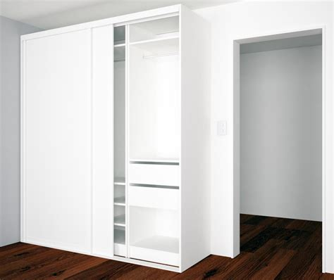 Stand Alone Closet Systems by Stand Alone Closet Design With Sliding Doors And Adjustable Shelves Closet