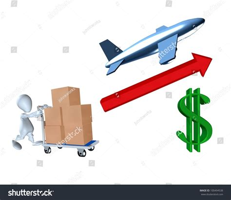 3d representation rising cost air stock illustration 100494538