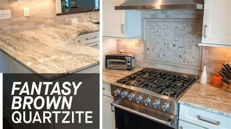 Kitchen Countertop Tile Design Ideas by Fantasy Brown Kitchen Countertops Ii Marble Com Youtube