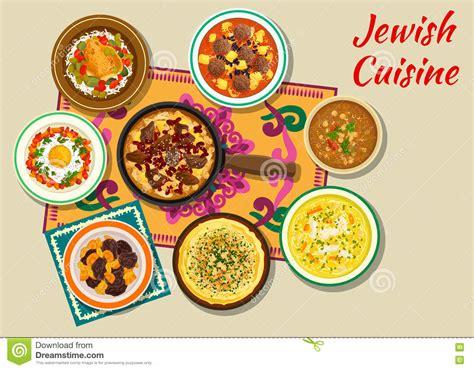 kosher dishes cuisine kosher dishes for dinner icon stock vector