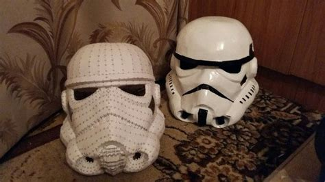 Stormtrooper Papercraft Helmet - wars episode iv a new 2 size