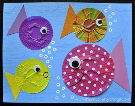 crafts for fish fish craft out of cupcake liners cupcake liners