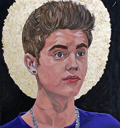 justin bieber painting justin bieber portrait in sunderland ponders power of a