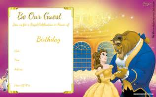 the invitation template free printable and the beast royal invitation