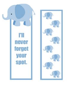 printable elephant bookmarks printable elephant bookmarks that never forget