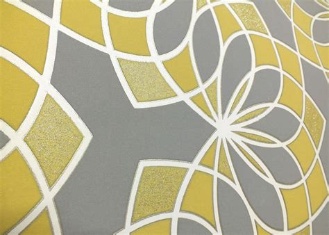 grey yellow wallpaper uk geometric wallpaper modern glitter embossed bold funky