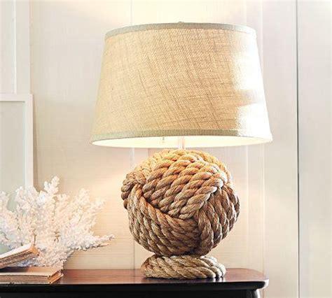 nudo wall base rope knot table l base pottery barn