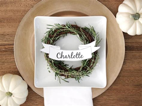 thanksgiving place setting cards template how to make customizable thanksgiving place cards diy
