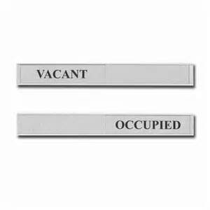 Occupied vacant door sign sliding door signs for offices sliding
