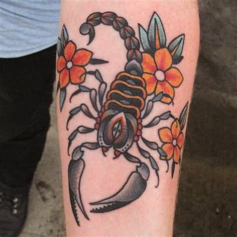 scorpion rose tattoo designs 26 traditional scorpion tattoos