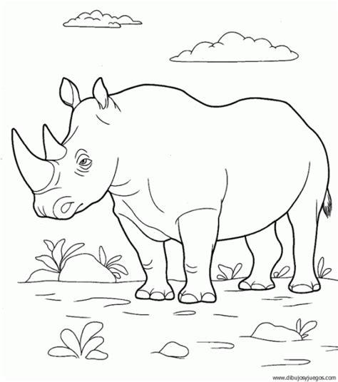 imagenes para colorear rinoceronte dibujo de rinoceronte 013 dibujos y juegos para pintar