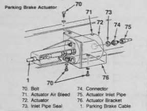P30 Auto Park Brake System Parts I Need Help With Auto Parking Brake On P30 Nedd To Bleed
