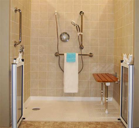 Handicap Shower Door Sloped Door Entrance Ada Products Kitchen Remodel Bath Remodel Interior Design