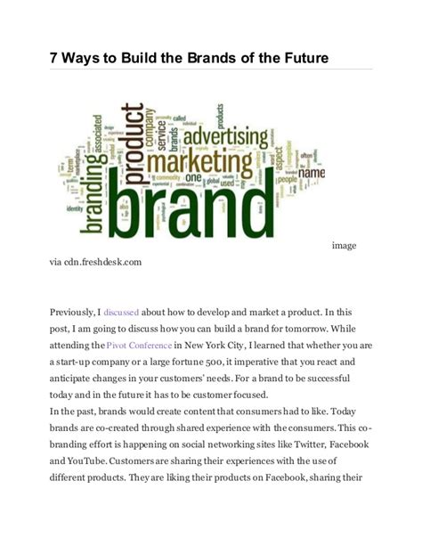 7 Ways To Hes A by 7 Ways To Build The Brands Of The Futureimagevia Cdn
