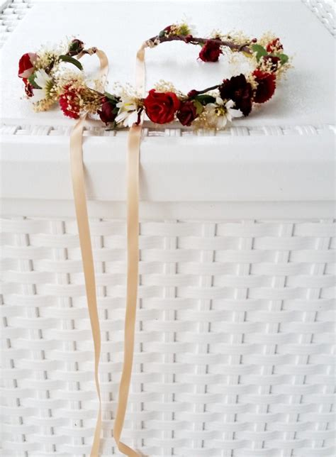 Wedding Hair Accessories Burgundy by Vineyard Wedding Hair Accessories Flower Crown Wine