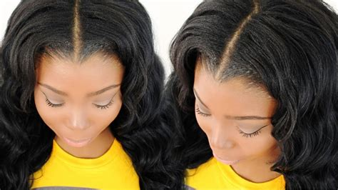 how to leave hair out for sew in blending straightening your leave out with your sew in