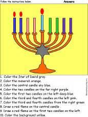 colors of hanukkah menorah candles colors