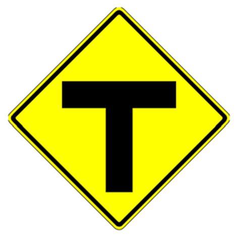 W2-5 Y-Symbol (Y Intersection Ahead) Sign Y Intersection Sign