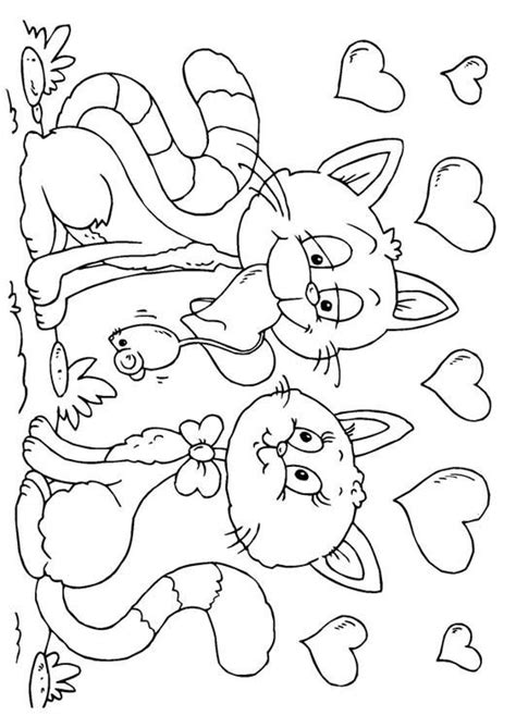 kitten valentine coloring page pin by jeannie weaver on black white art pinterest