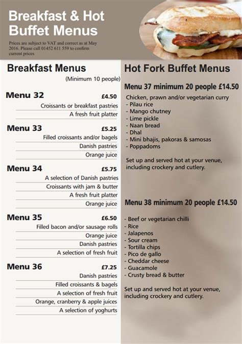 hedleys breakfast menus buffet catering sandwich bar