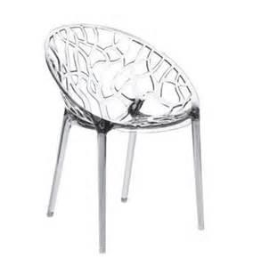 chaise design en plastique transparent chaises