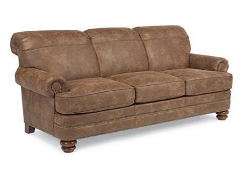 flexsteel living room nuvoleather sofa n7791 31 hickory