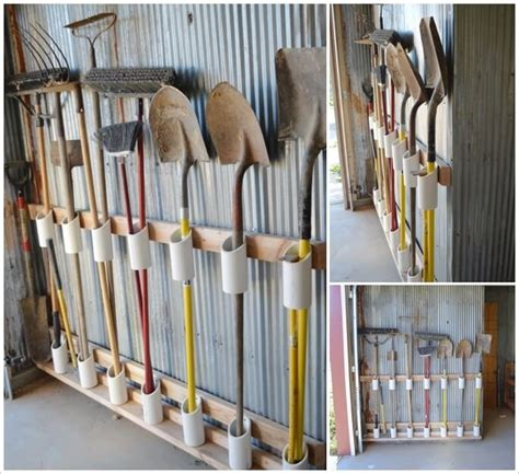 How To Hang Tools In A Shed by Organize Your Garden Tools Using Pvc Pipe