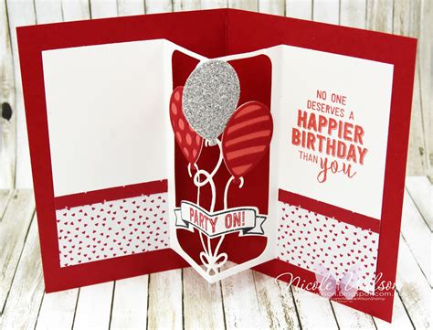 balloon pop up card template wilson independent stin up 174 demonstrator the