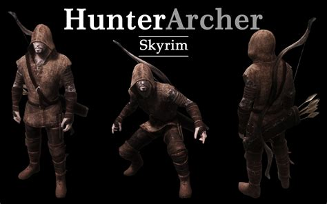 skyrim archer armor mod hunter archer armor at skyrim nexus mods and community