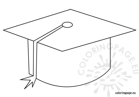 graduation cap coloring sheet coloring pages