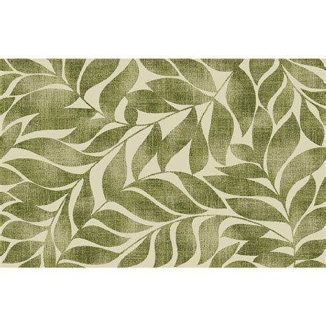 green leaf rug shop style selections rectangular green tufted accent rug common 2 ft x 4 ft actual 30 in x