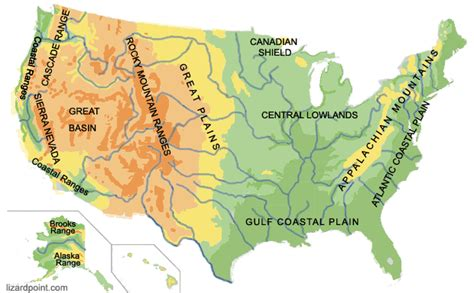 usa terrain map test your geography knowledge usa geophysical regions