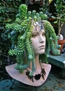 Medusa Planter sometimes the mannequins wear fashionable plant inspired garments