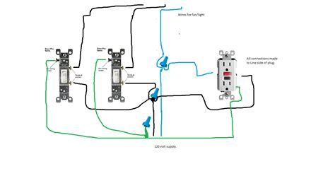 wiring diagram for bathroom exhaust fan and light wiring
