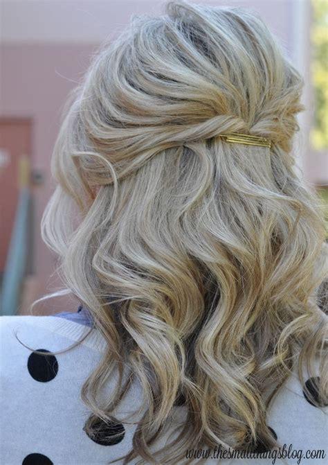 casual daytime hairstyles halb hochgesteckt frisuren