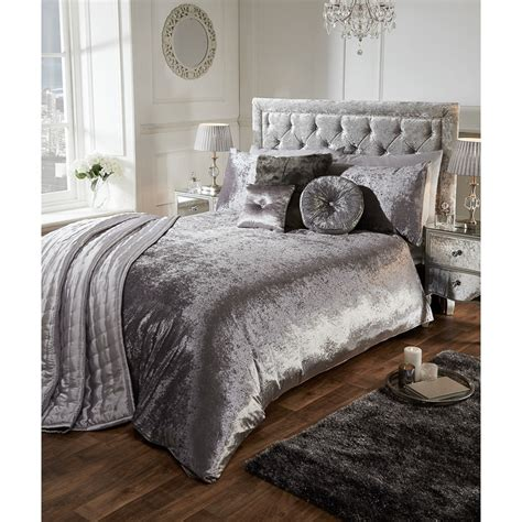 silver curtains and bedding versailles full velvet face duvet set double duvets b m