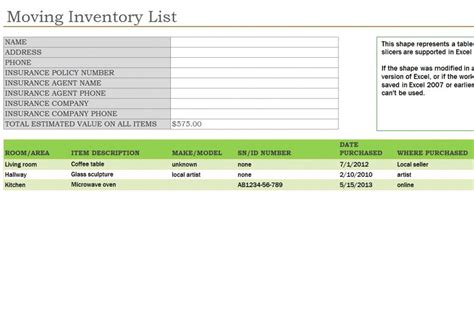 23 Images Of Moving Box Inventory Template Leseriail Com Moving Box Inventory Template