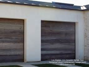 contemporary garage doors crafted in rustic reclaimed