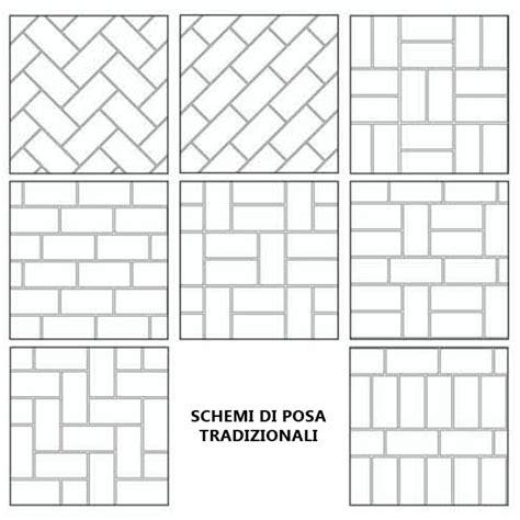 schemi di posa pavimenti 1 04m2 pavimento pietra rosa antiscivolo 17x34 cm