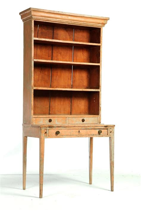 american painted desk and bookcase