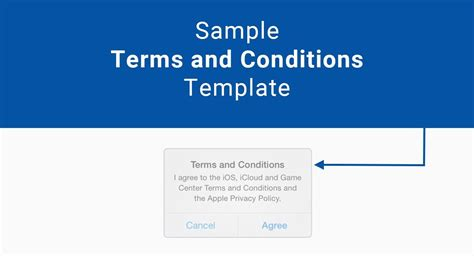 software terms and conditions template sle terms and conditions template termsfeed