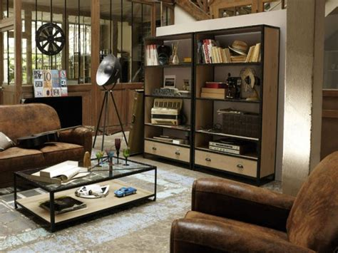 coole tv möbel de la le au papier peint osez le total look industriel