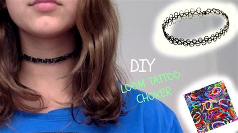 diy loom tattoo choker youtube