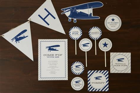 Baby Plans For Tomkat by Vintage Airplane Birthday For Pottery Barn