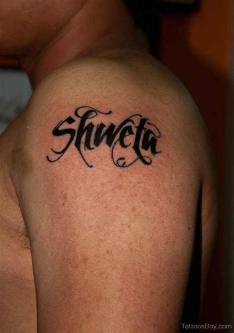 shoulder word tattoos word tattoos designs pictures page 21