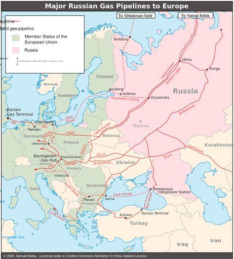 russia europe pipeline map russia ukraine gas disputes