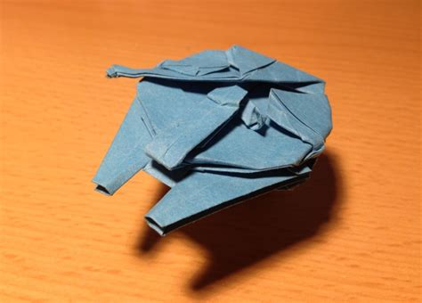 how to make a cool origami origami millennium falcon folding hyperspace technabob