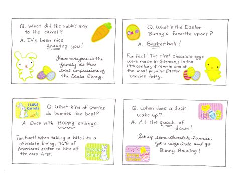 printable easter jokes fun easter joke and activity cards happy home fairy